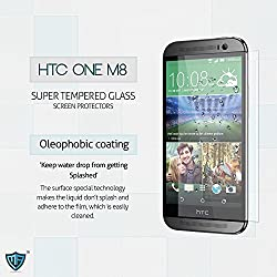 MoArmouz® Super Tempered Glass Screen Protector for HTC ONE M8 Cutting Edge Protection Anti-scratch / Fingerprint resistant / HD /9H Hardness 3D Touch Compatible / Mobile Accessories / Screen Protectors