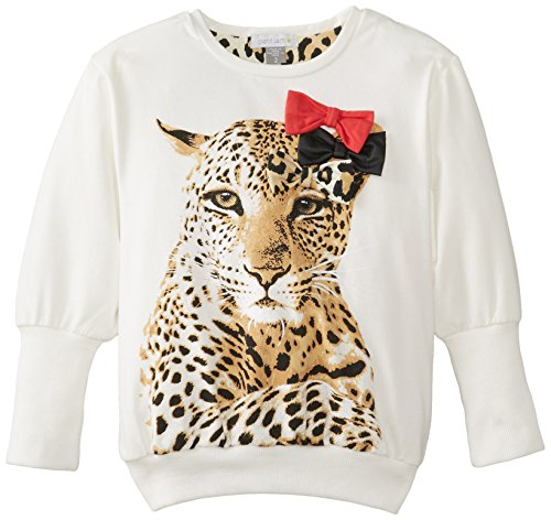 Petit Lem Little Girls' Animalicious Long Sleeve Knit Tunic, Leopard Print, 5 front-121699