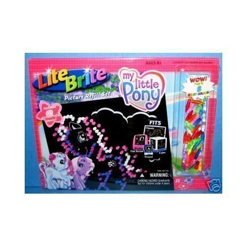 Lite Brite Picture Refill Set: My Little Pony With Bonus Colored Pegs! by Hasbro - 1