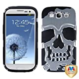 MYBAT SAMSIIIHPCSKSC101NP Unique Skullcap Protective Cover for Samsung Galaxy S3 - Retail Packaging - Silver Plating/Black