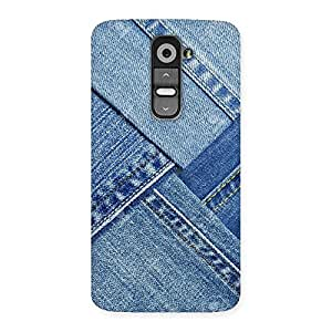 Denim Texture Print Back Case Cover for LG G2