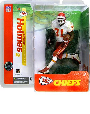 Priest Holmes 2nd Edition Kansas City Chiefs White Jersey Variant Alternate Chase McFarlane NFL Series 9 Action Figure