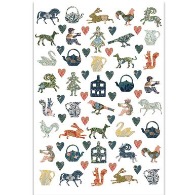 V&A Arts & Crafts Cut Outs Tea Towel||EVAEX||RNWIT