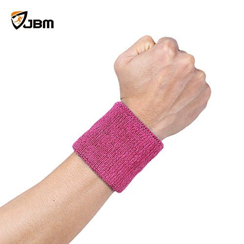 JBMColor Wristband Sweatband for Sports basketballFootball Softball Tennis Gym Running wrist sweat band / brace Compression (1 Piece) (Cool Sweat Bands compare prices)