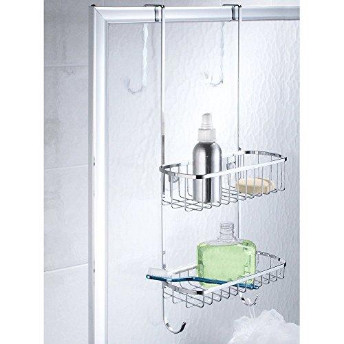 Interdesign portaoggetti doccia in acciaio inox per porte - Accessori doccia portaoggetti ...