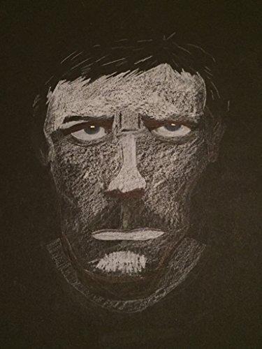 zeichnung-in-schwarz-weiss-von-dr-gregory-house-auf-tonpapier