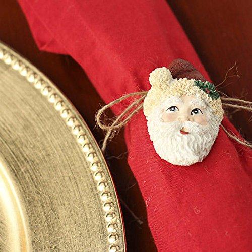 Santa claus lapel pin brooch napkin or wreath ornament