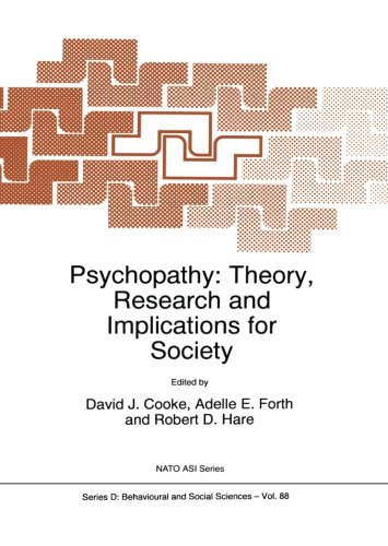 Psychopathy: Theory, Research and Implications for Society (Nato Science Series D:) (Robert D Hare compare prices)