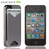 Case-Mate iPhone 4S / 4 カードホルダー付ハードケース ID Case グロス・メタリック・シルバー CM015574