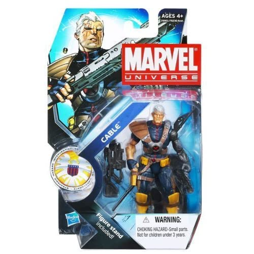 Marvel Universe 3 3/4 Inch Series 13 Action Figure #7 Cable WITHOUT Baby Hope Variant by Hasbro Toys (English Manual)