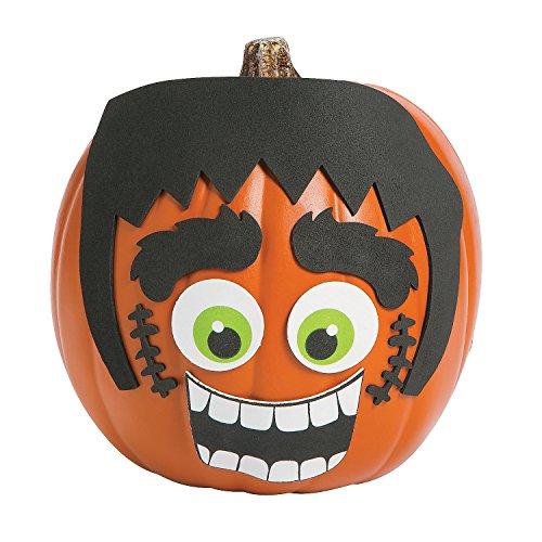 1 Dozen Green Monster Pumpkin Decorating Craft Kits - Halloween Decorations