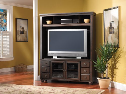 Perfect Bush Furniture Savannah Corner TV Hutch Big SALE
