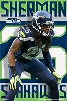 "1 X Richard Sherman - Seattle Seahawks NFL 2014 22""x34"" Art Print Poster"
