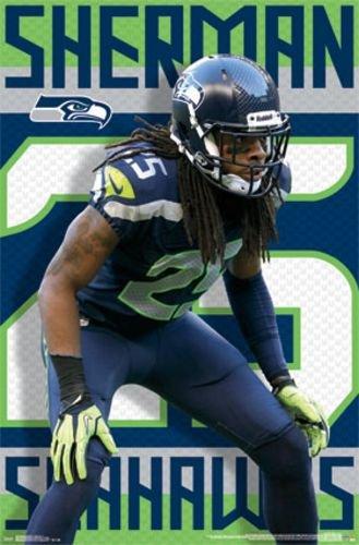 "Richard Sherman - Seattle Seahawks NFL 2014 22""x34"" Art Print Poster"