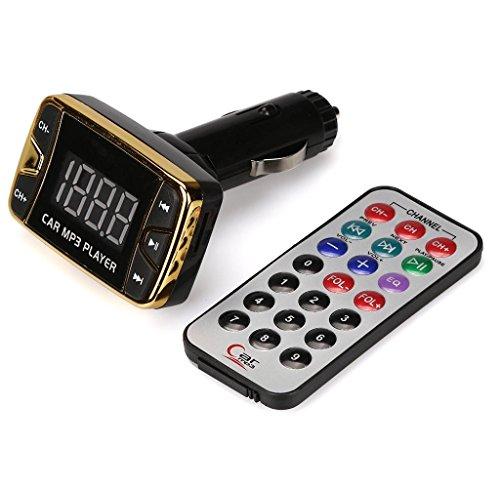 Hipzop - Lecteur mp3 Transmetteur FM sans fil Modulateur Kit de voiture USB SD TF MMC LCD à distance