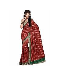 Ashika Printed Indian New Art Silk Sari And Saree (2257)