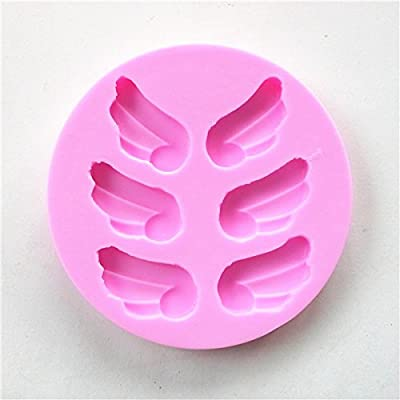 Wocuz W0628 3 Pairs of Wings Shaped Silicone Fondant Candy Making Mold for Cupcake Decoration