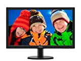 Philips 233V5LHAB – Monitor LED de 23″ (1920 x 1080, 5 ms, 250 cd/m2), color negro