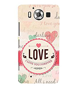 I Love you Darling Forever 3D Hard Polycarbonate Designer Back Case Cover for Nokia Lumia 950 :: Microsoft Lumia 950