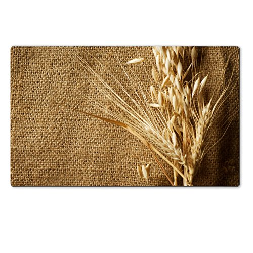 Liili Premium Large Table Mat 28.4 x 17.7 x 0.2 inches Wheat Ears on Burlap background Country Style With copy space Photo 7815175 (Agricultural Corn Meal compare prices)