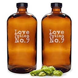Cathy\'s Concepts Love Potion No. 9 Bullet Growlers, Set of 2