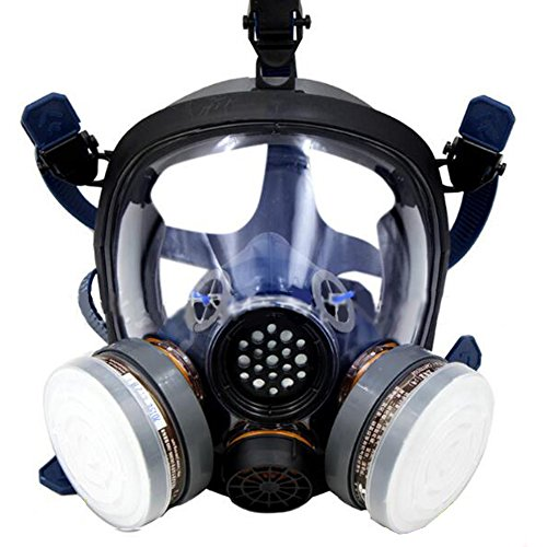 Organic Vapor Full Face Respirator Respiratory Protection Gas Masks Paint Pesticide Chemical Formaldehyde Anti Virus Full w/ Activated Carbon Respirator (Chemical Gas Mask compare prices)