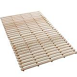 タンスのゲン 折りたたみベッド すのこベッド 組立不要 すのこ板ベッド ダブル AIR PLUS エアープラス ナチュラル 2719094700