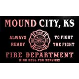 qy56388-r FIRE DEPT MOUND CITY, KS KANSAS Firefighter Neon Sign Enseigne Lumineuse