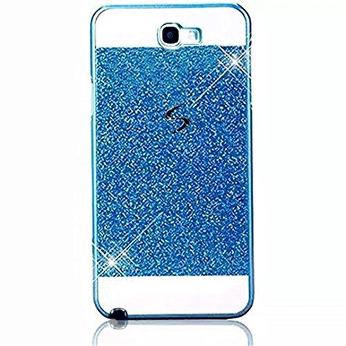 KSHOP Coque Étui pour Samsung Galaxy Note 2 N7100 Luxe PC Plastique Dur Strass Couvrir Bling Brilliant Ultra Mince Paillette Scintillantes Housse