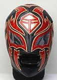 ラ・ソンブラ(CMLL)応援用マスクDX<EX>黒メタリック赤