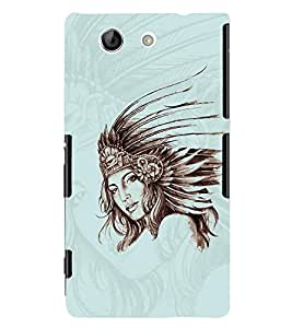 PrintVisa Stylish Cool Girl Queen 3D Hard Polycarbonate Designer Back Case Cover for Sony Xperia Z4 Mini :: Compact