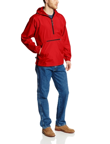 Charles River Apparel Men's Big Pack-N-Go Windbreaker Pullover