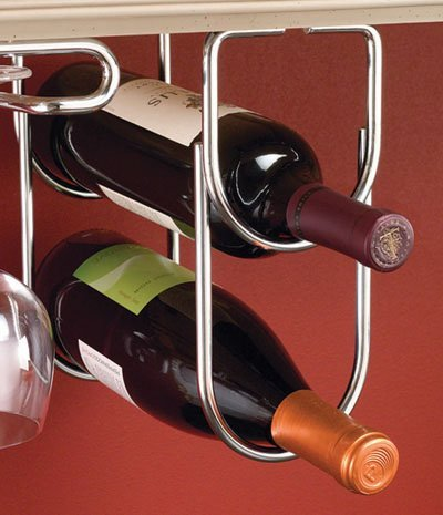 Rev-A-Shelf RS3250CR Double Wine Bottle Rack with Chrome
