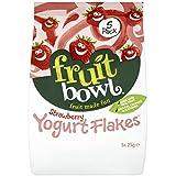 Fruitbowl Strawberry Yogurt Fruit Flakes MultiPack 25 g (Pack of 6, Total 30 Bags)