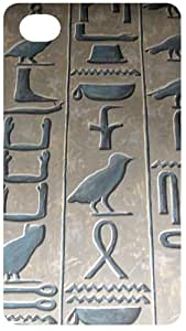 Egyptian Hieroglyph Black Flip Case for Apple iPhone 4 / 4S