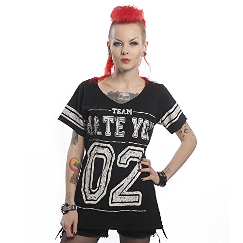Heart less T-shirt da donna - Hate College Varsity T-Shirt nero Large