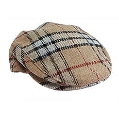John Hanly & Co. Irish Tweed Flat Cap - Camel Check - Made in Ireland