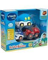 Vtech - 205735 - Véhicule Miniature - Tut Tut Bolides - Coffret Trio Vacances - Avion + Quad + Cabriolet
