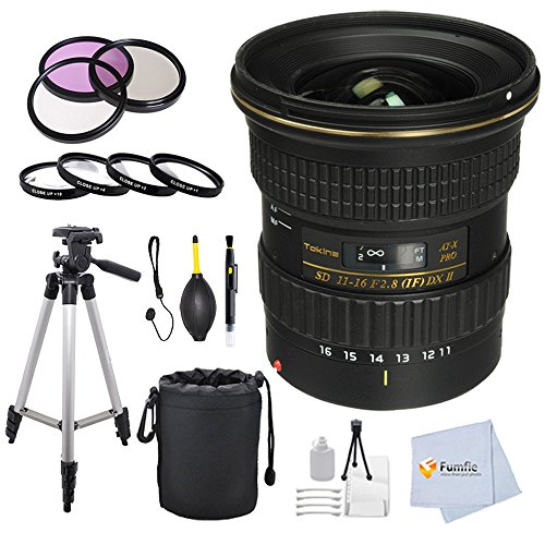 Tokina 11-16mm f/2.8 AT-X116 Pro DX II Digital Zoom Lens (for Canon EOS Cameras) + 77mm Multi Coated HD 3 Pc. Digital Filter Set (UV-CPL-FLD) +