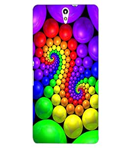 ColourCraft Lovely Colourful Design Back Case Cover for SONY XPERIA C5 ULTRA