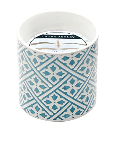 Laura Ashley by Thompson Ferrier 12.3-Oz. Sea Salts & Tides Turquoise Deco Candle