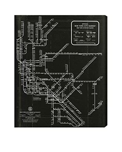 Oliver Gal New York Subway Map 1958 Canvas Art, Multi, 24 x 20