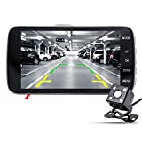 junsun Dash Cam Car DVR Camera Dual Lens, Full HD 1080P Car Front Camera + Rearview Camera, 170 View Angle, 4 Inch LCD,Superior Night Vision, Car Charger