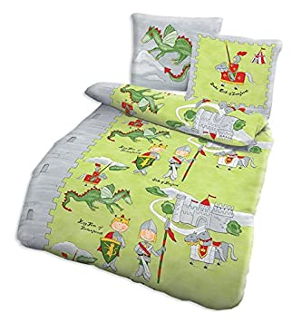 Bettwasche 135x200 Baumwolle Kinder Ritter Susse Kinderbettwasche
