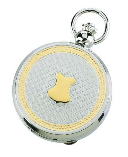 Charles-hubert, Paris Charles Hubert 3844 Two-tone Quartz Picture Frame Pocket Watch