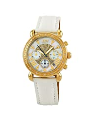 "JBW-Just Bling Women's JB-6210L-N ""Victory"" Leather Diamond Chronograph Watch"