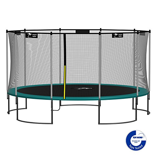 Kangaroo-Hoppers-15-Feet-Round-Trampoline-with-Safety-Net-Enclosure-and-Spring-Pad-DARK-GREEN