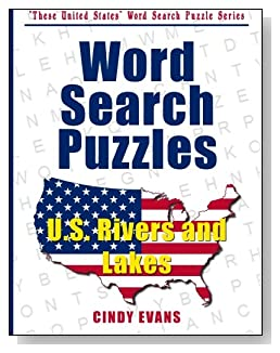 U.S. Rivers and Lakes Word Search Puzzles