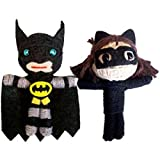 "Licensed DC Comics Originals 2.5"" Batman And Catwoman Set Of 2 String Doll Keychains Officially Lice"
