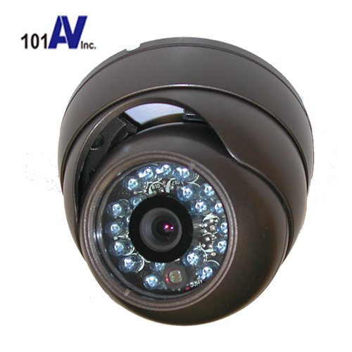 "101Av 700Tvl Outdoor Dome Camera 1/3"" Sony Super Had Ii Ccd 3.6Mm Fixed Lens 20Pcs Infrared Leds 65Ft Ir Range Day Night Vision Weatherproof Vandal Proof Metal Housing High Resolution Color For Cctv Dvr Home Office Surveillance Secure System Dc 12V Charco"